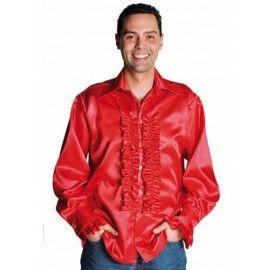 Déguisement chemise disco rouge homme luxe