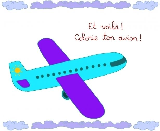 66 best images about pout avion on pinterest drawing airplane and coloring pages - Dessin facile avion ...