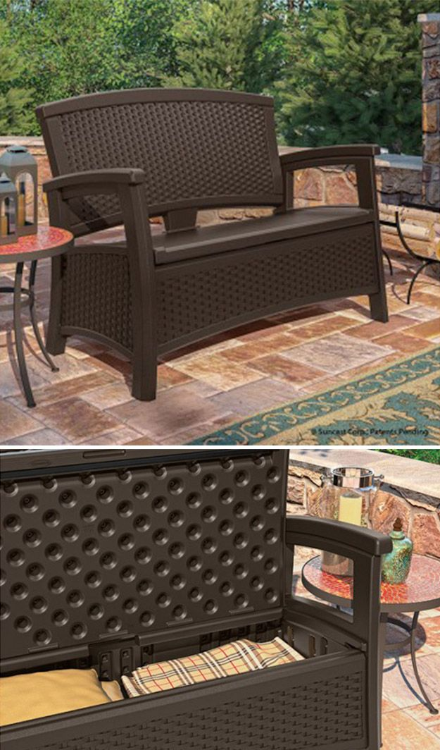 Keep warm blankets conveniently stowed for outdoor movie nights in the  Suncast ELEMENTS™ Loveseat. - 17 Best Images About Patio Furniture - JAVA On Pinterest