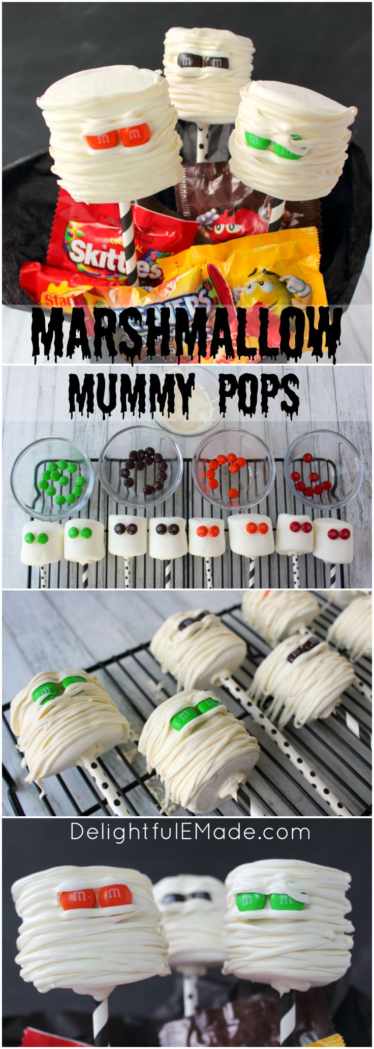 Let the Halloween BOO'ing begin! Have some friends, family, or neighbors that you would love to share some Halloween spirit with? Make them these fun Marshmallow Mummy Pops and share them in these fun and simple Halloween BOO Bags!