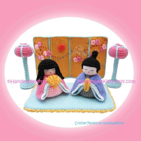 Hinamatsuri Japanese Doll's Festival Girl's Day Amigurumi PDF Crochet Pattern by HandmadeKitty #hinamatsuri #Japan #kids