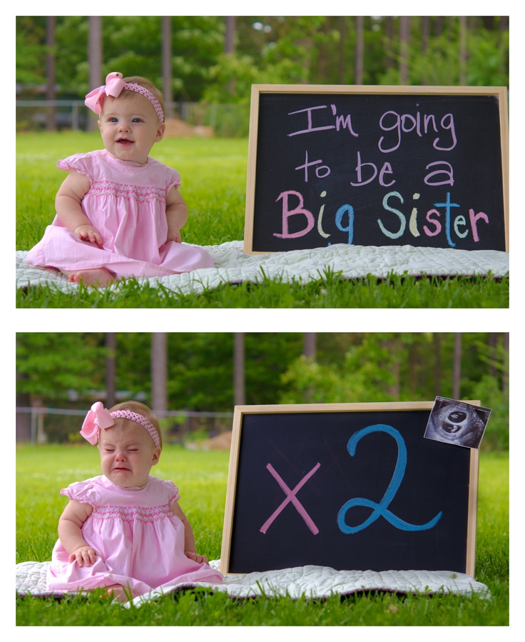 What a cute idea! Baby announcement for twins.