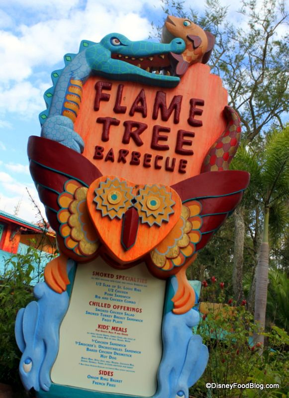 Flame Tree Barbecue Eats and Review from Disney World!  We enjoyed our meal here.  And even though I wasn't sure about ordering the Safari Amber beer ...  I wanted to be adventuresome, so I did.  (I'm not really a beer drinker).  But I enjoyed it so much, I had a 2nd one later in the day!