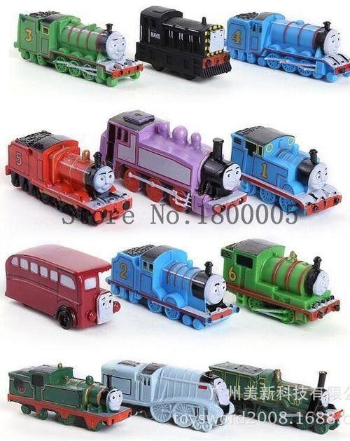 Plastic Thomas Train figurine set, 12pcs, size of Thomas 4x2cm, perfect to use as cake toppers