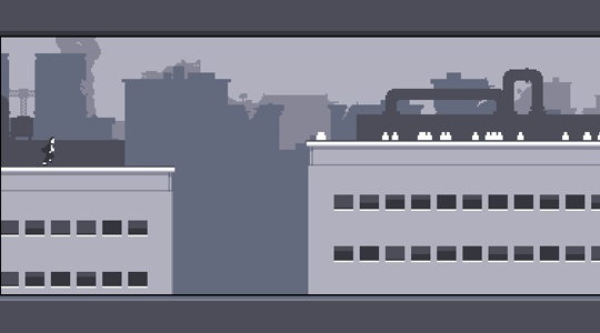 simple 2d pixel art. different shades of grey for
