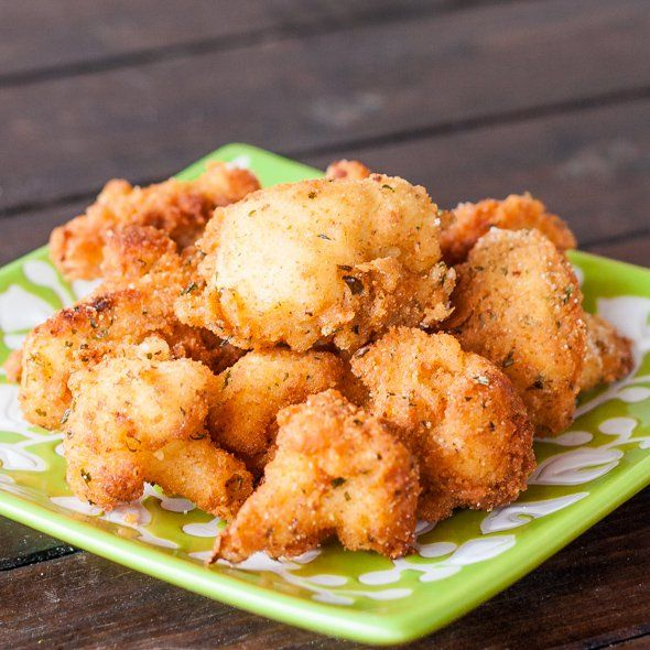 Deep Fried Cauliflower Pieces – probably the tastiest cauliflower you will ever have, perfect snack.