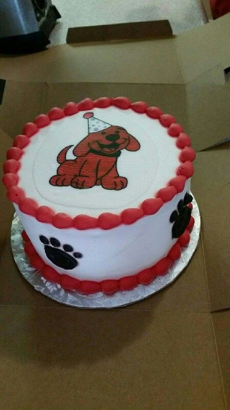 Clifford ( The Small Red Puppy ) smash cake.