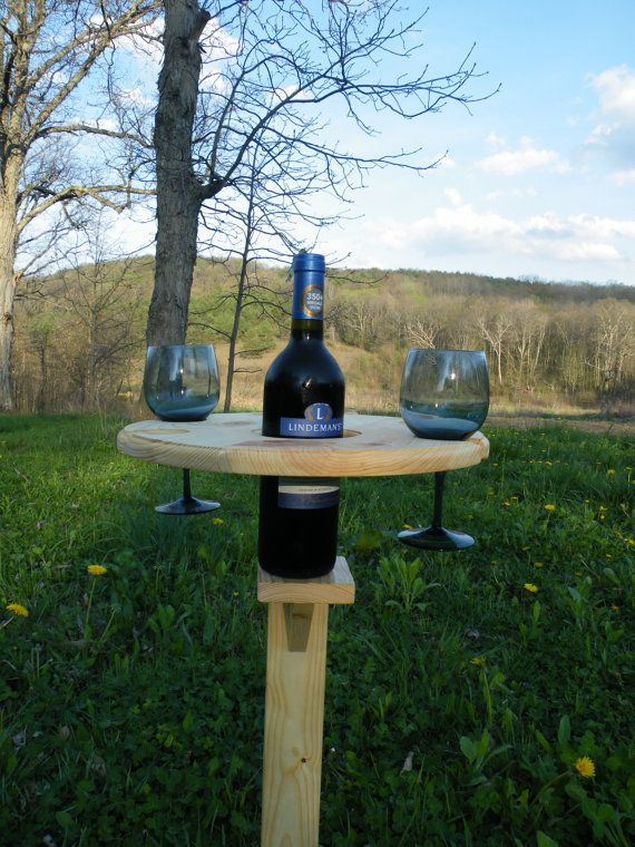 Outdoor Wine Holder Stand Holds one wine bottle by ...