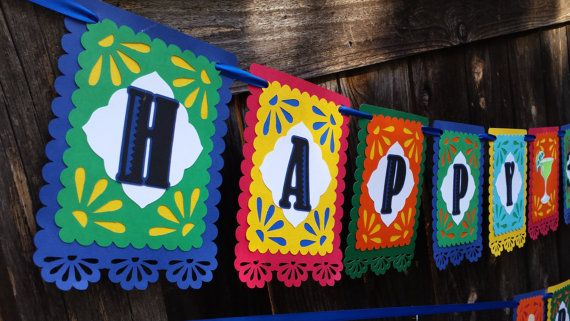 Fiesta Birthday Banner  Fiesta Banner  by CelebrateWithFlair