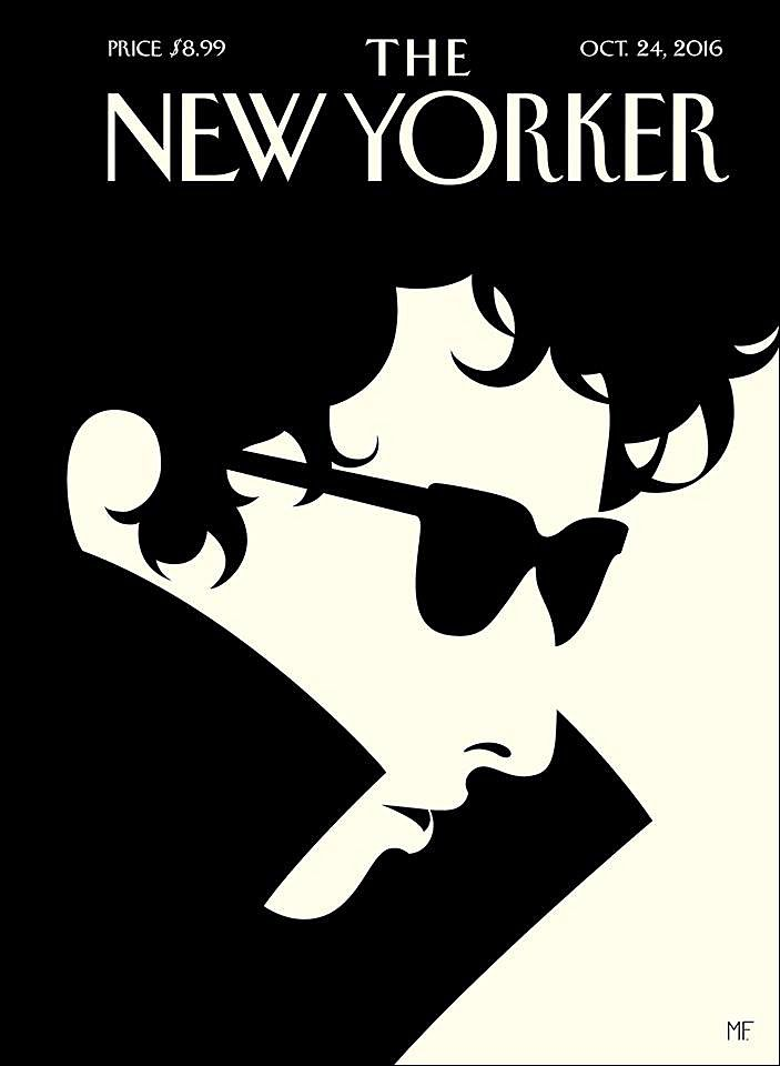 "coverjunkie: "" Next weeks cover The New Yorker starring Nobel Prize in Literature #BobDylan Artwork: Malika Favre Art Editor: Françoise Mouly Editor: David Remnick Click here for more covers The New Yorker on Coverjunkie """