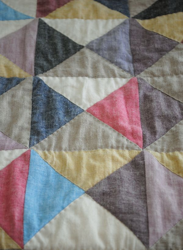 Broken Dishes Baby Quilt - the purl bee. I love quilts just made of triangles....looks so simple, but so beautiful!