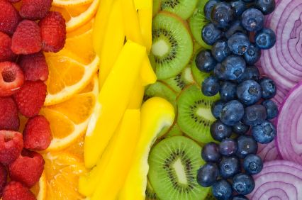 Eating colorful foods = eating healthy foods (does that count for Skittles?): Clean Food, Rainbows Fruit, Rainbows Colors, Health Benefits, Healthy Food, Weights Loss, Rainbows Food, Colors Food, Fruit And Vegetables