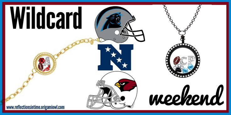 Wildcard Weekend! Does your locket reflect your passion? Let me help you support your team! Give me a call at 949-484-9407 or visit my webpage at www.reflectionsintime.origamiowl.com. #NFL #Arizona #Cards #NFC #NFLplayoffs #Panthers #carolina #origamiowl. Please do not copy, edit, crop, redirect or rebrand my designs, thanks!