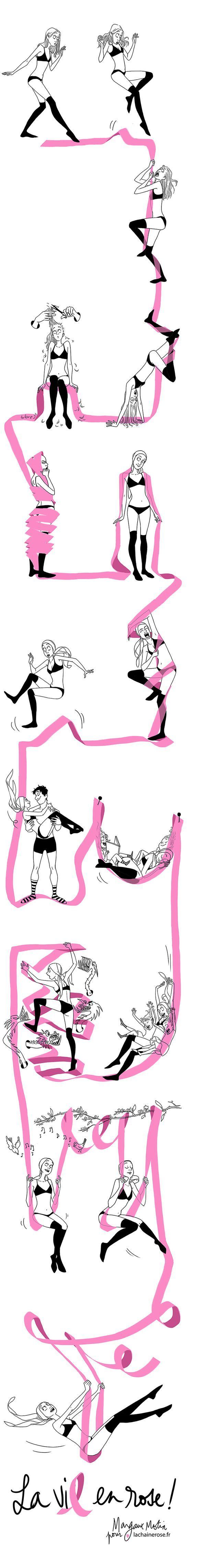 Octobre Rose, le moment de rappeler à nos douces que la prévention vaut de l'or. #breast #cancer - par Margaux Motin : Chaine rose couleur