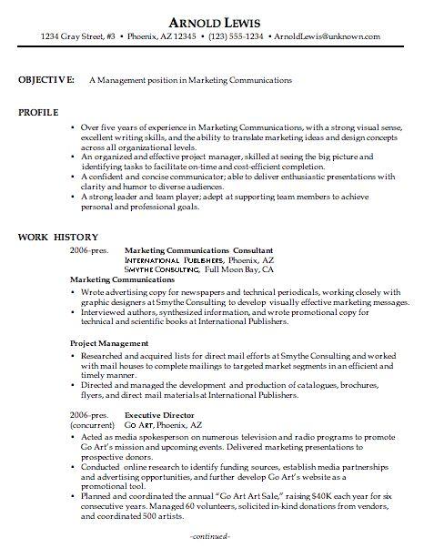 combination resume sample marketing communications manager