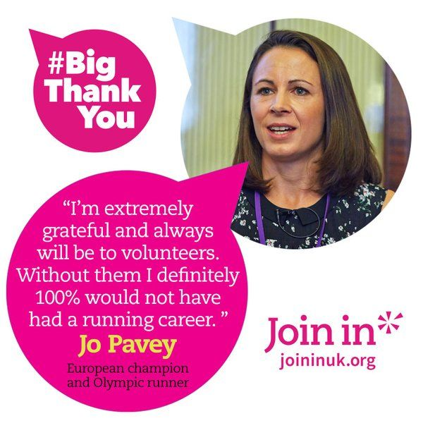 This Sunday, the cream of UK sport will say a #BigThankYou to you, the volunteers. Don't miss it. #SPOTY