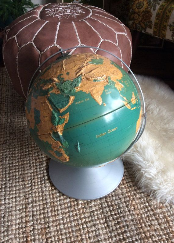 285 best vintage world globes images on pinterest vintage globe vintage raised world globe on metal stand rotates and spins 12 inch nystrom readiness globe vintage globe collection gumiabroncs Image collections