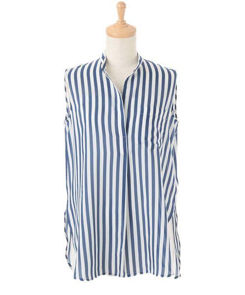 コットンシルク ノースリーブシャツ(シャツ・ブラウス)   TOMORROWLAND/トゥモローランド のファッション通販サイト - セレクトスクエア