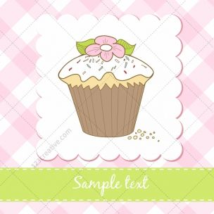 Sweet muffin vectors on Birthday cards - collection contains 4 colorful Greeting cards with muffin motive. You can easy place your own text. Usable for Valentines day, Birthdays, Greeting cards or Bakery shop. Download here: bit.ly/1sAQRcf