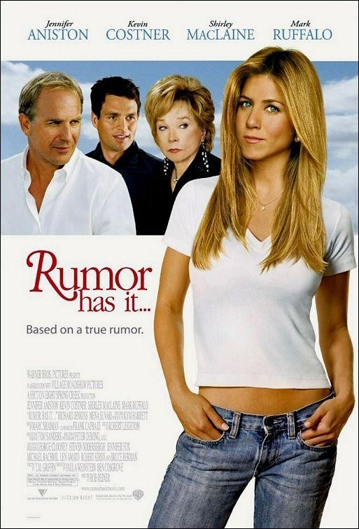 Rumor Has It ~ Kevin Costner, Jennifer Aniston, Shirley MacLaine, Mark Ruffalo, Mena Suvari, Richard Jenkins, Christopher McDonald, Kathy Bates.