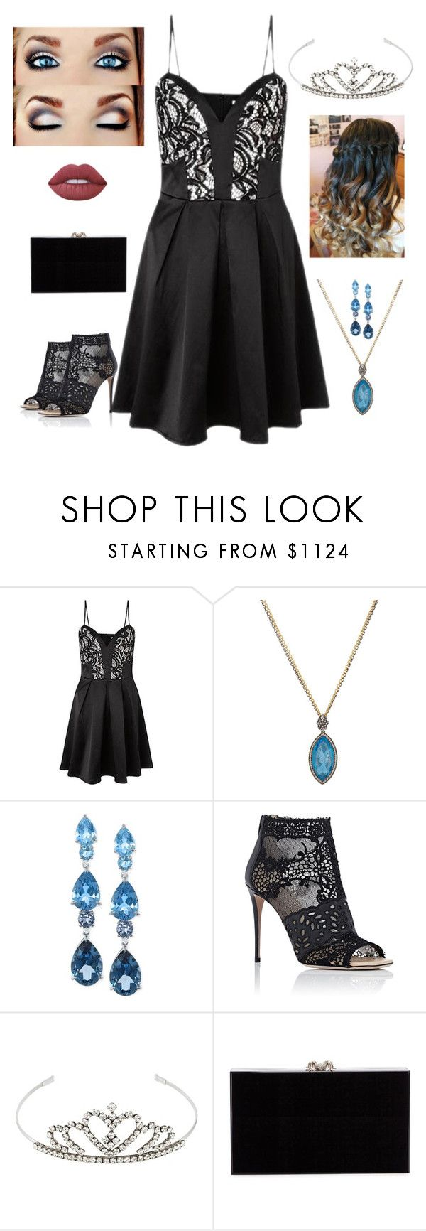 """""""Expensive Prom"""" by gracenickel on Polyvore featuring Lipsy, Sevan Biçakçi, LALI Jewels, Valentino, Yves Saint Laurent, Charlotte Olympia, Lime Crime, Prom, Elegant and expensive"""