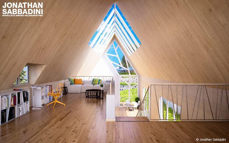 La casa, l'albero e il legno. work in progress.  #3d #render #interior #wood #design #home #space #glass #tree
