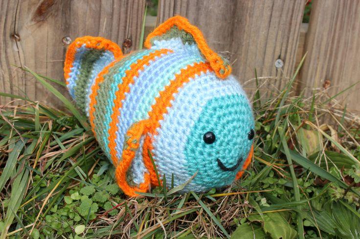 Amigurumi - Handmade Crochet - A Smiling Fish by Judy Ann's Crochet  happy fish by JudyAnnsCrochet on Etsy