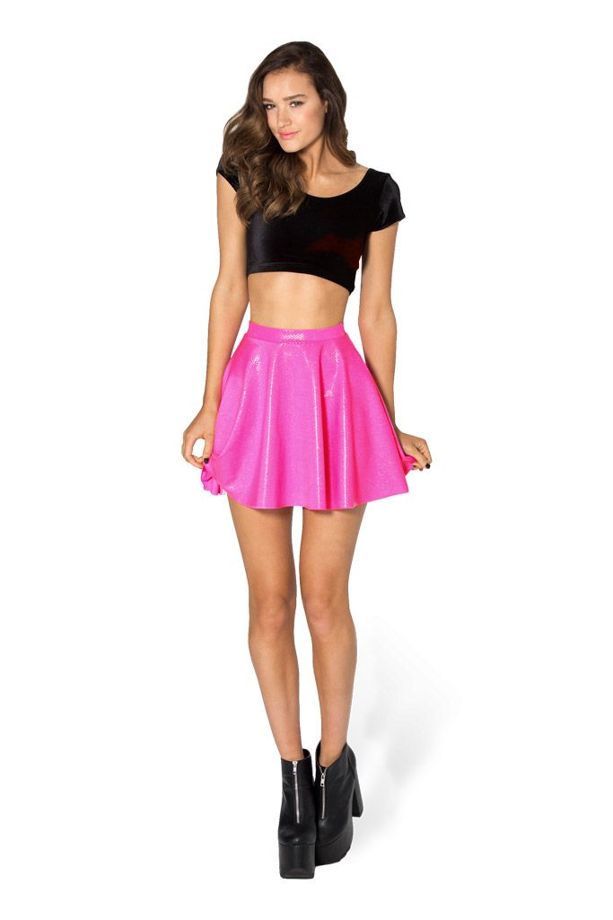 Fairy Dust Pink Skater Skirt - LIMITED by Black Milk Clothing $60AUD