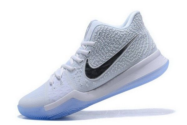 newest a62c3 e5835 Nike Kyrie 3 White Chrome Basketball Shoes 852395-103