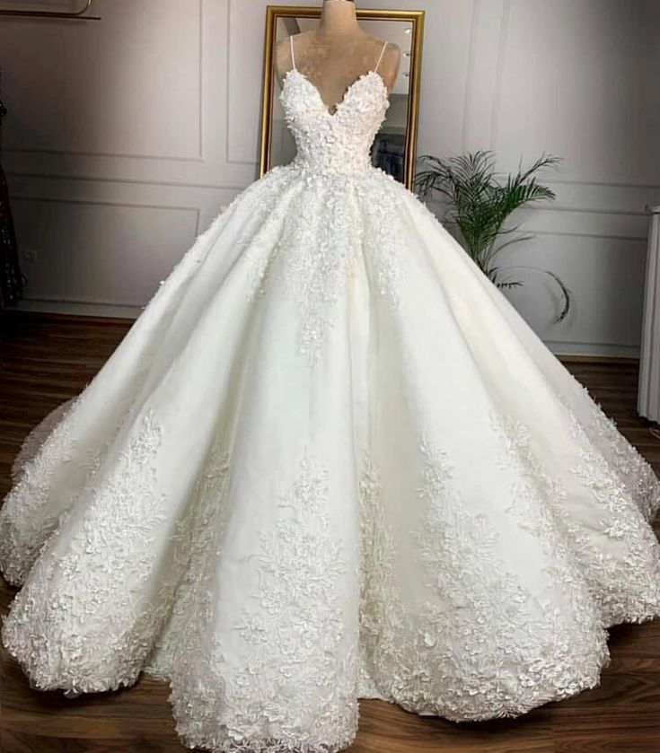 Vestidos De Noiva 2019 Luxurious Arabic Marriage ceremony Clothes Stated Mahamaid Spaghetti Sleeveless Open Again 3D Floral Cathedral Bridal Robes Luxurious Arabic Marriage ceremony Clothes Marriage ceremony Clothes Vestidos De Noiva On-line with $322.92/Piece on Julia4444's Retailer