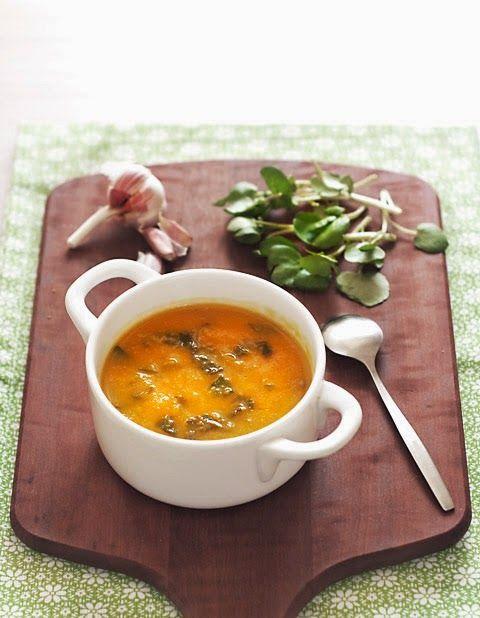 sopa de agriões e cenoura /carrot-watercress soup