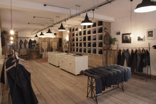 Industrial Retail Design Retail Lighting Pinterest
