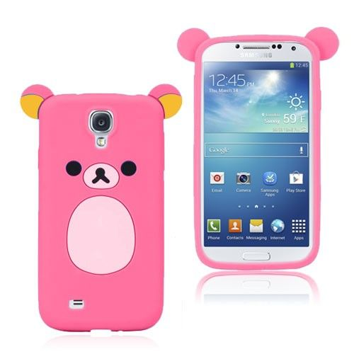 Cute Bear (Rosa) Samsung Galaxy S4 Deksel