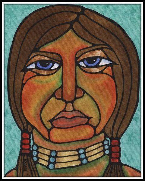 Ayla Bouvette | Ayla Bouvette - Metis Art - Blue-eyed Ojibwe