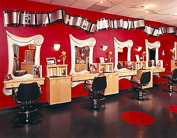 Lovely Hair Salon Sample Interior Design | ... Movie Theater Salon Is A Happy And