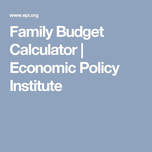 Family Budget Calculator | Economic Policy Institute