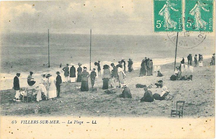 Villers-sur-Mer carte postale Normandy http://www.normandythenandnow.com/monsters-villers-sur-mer/