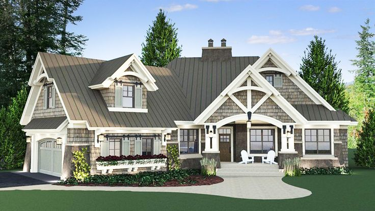 Magnificent Curb Appeal – 14635RK | Craftsman, Mountain, Northwest, 1st Floor Master Suite, Bonus Room, CAD Available, Den-Office-Library-Study, In-Law Suite, Jack & Jill Bath, PDF, Split Bedrooms, Corner Lot | Architectural Designs – Bev Lukoni-Arnold