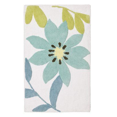 """Paradise Bath Rug - Blue/Green/White (21""""x34"""").Opens in a new window"""
