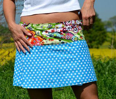 jupe portefeuille avec ceinture multi-pressions