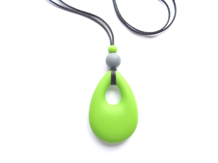 Silicone Teething Necklace, Green Necklace, Nursing Necklace, Breastfeeding Necklace, Baby Wearing, Baby Shower Gift, Necklace For Mom by BijouxMariePuce on Etsy