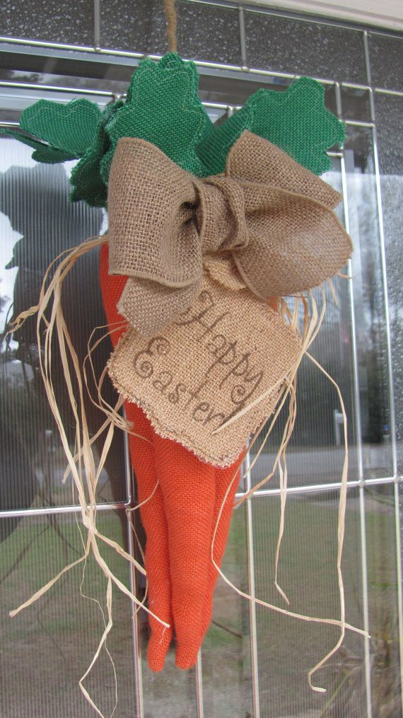 Hey, I found this really awesome Etsy listing at https://www.etsy.com/listing/180426050/burlap-easter-wreath-burlap-carrots