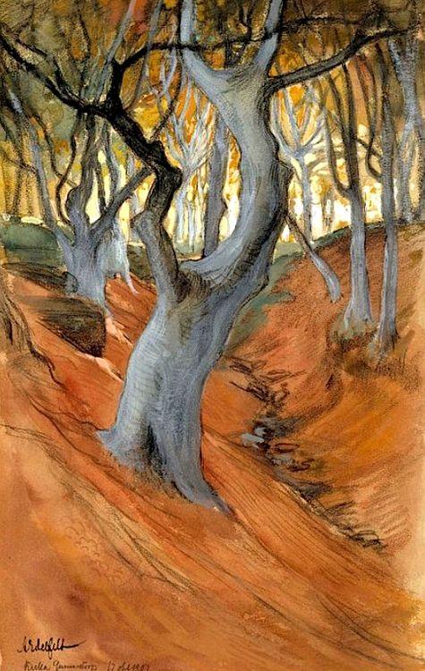 Edelfelt, Albert  Beech Forest, 1901