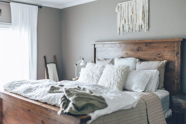 Ashley Gray by Benjamin Moore The Southern Trunk        Related Stories Colorful Bedroom Makeover Raleigh Green Stone Hearth