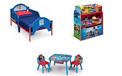 #giving Delta Children Paw Patrol Plastic Toddler Bed Recommended for ages 15 months and up Holds up to 50 lbs 2 attached guardrails Uses a standard crib mattre...