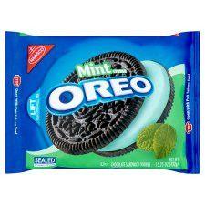 Nabisco Oreo Mint Creme Chocolate Cookies 432G