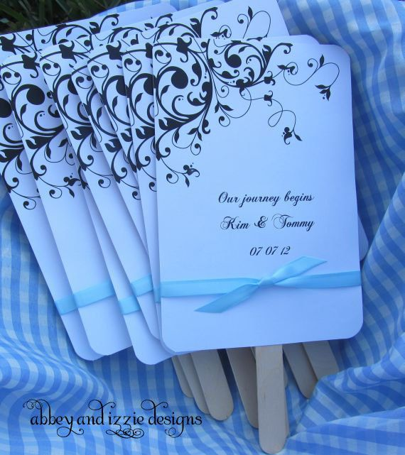 Beach Wedding Fans by abbeyandizziedesigns on Etsy