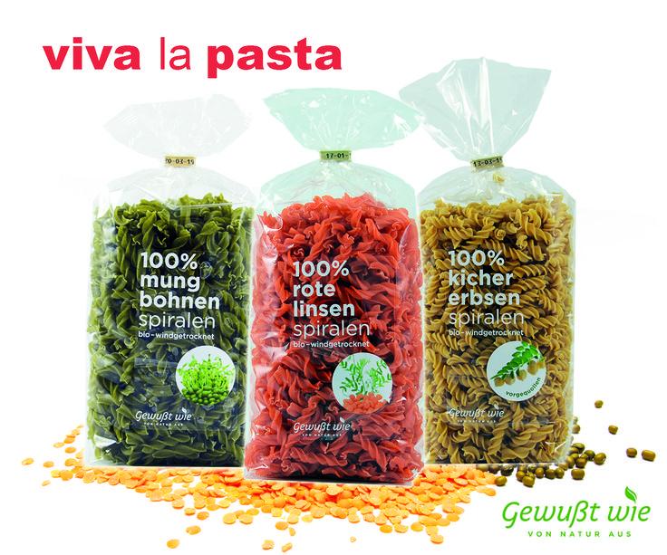 Schmecken so gut wie sie aussehen: Unsere neuen Bio-Pasta-Spiralen. - hergestellt in Österreich - schonend windgetrocknet - Steinmühle vermahlen  - 100 % Mungbohne, Rote Linse & Kichererbse: Ideal für Sportler, Veganer & Diabetiker  #gewusstwie #gewußtwie #pasta #nudeln #slowcarb #eiweiß #healthy #healthyfood #diabetiker #vegan #kichererbsen #mungbohnen #rotelinsen #madeinaustria #windgetrocknet #spiralen #onlineshop #webshop