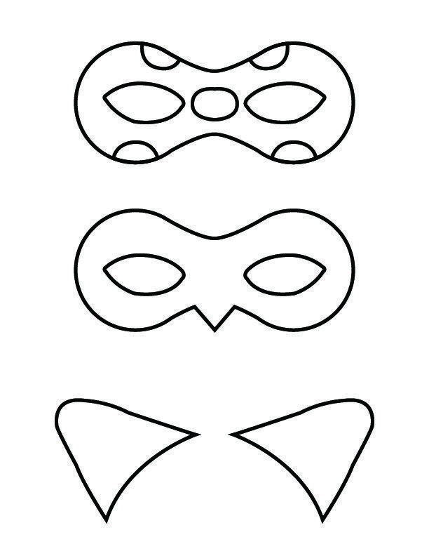 Free Printable Masks And Cat Ears For Ladybug And Cat Noir