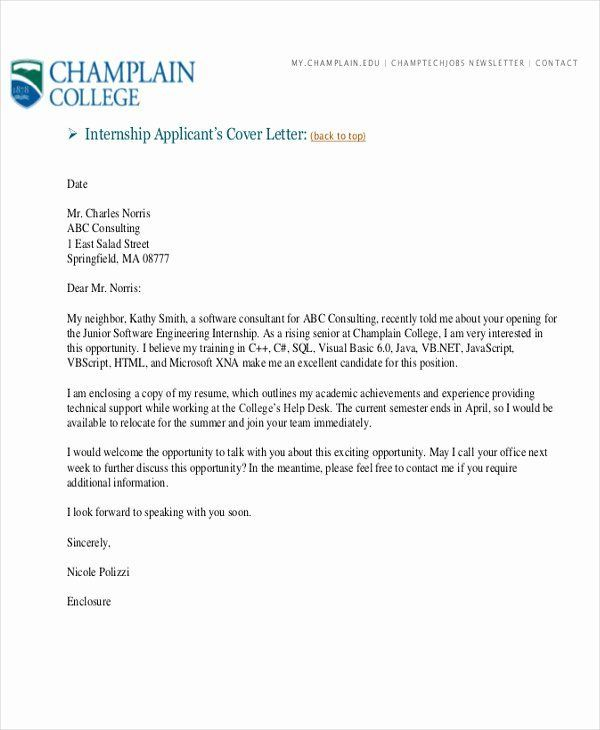 Engineering Internship Cover Letter Lovely Cover Letter For